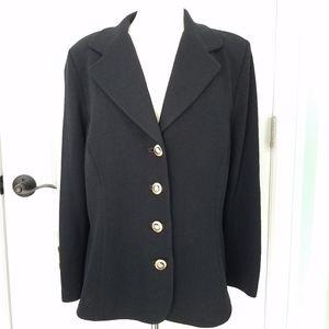 St John Basics Santana Knit Cardigan Jacket Black